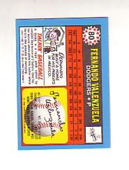 1988 Topps UK Minis Tiffany #80 Fernando Valenzuela back image