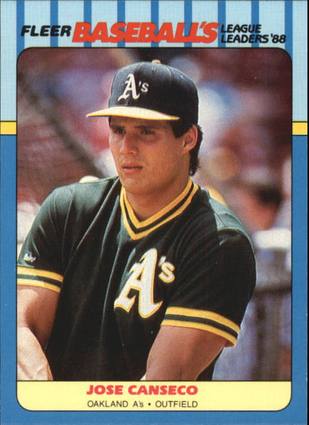 1988 Fleer League Leaders #4 Jose Canseco