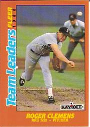 1988 Fleer Team Leaders #5 Roger Clemens