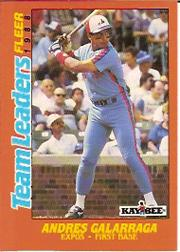 1988 Fleer Team Leaders #9 Andres Galarraga