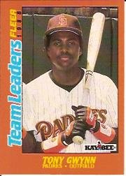 1988 Fleer Team Leaders #11 Tony Gwynn