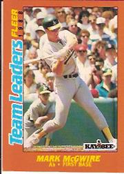 1988 Fleer Team Leaders #21 Mark McGwire