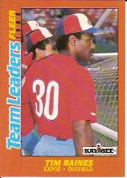 1988 Fleer Team Leaders #27 Tim Raines