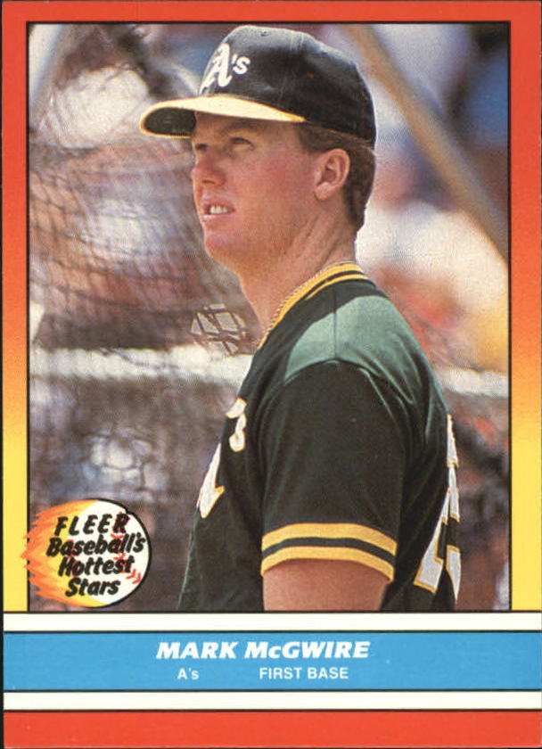 1988 Fleer Hottest Stars #26 Mark McGwire