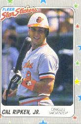 1988 Fleer Star Stickers #3 Cal Ripken
