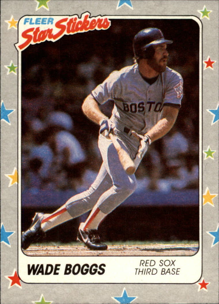 1988 Fleer Star Stickers #5 Wade Boggs