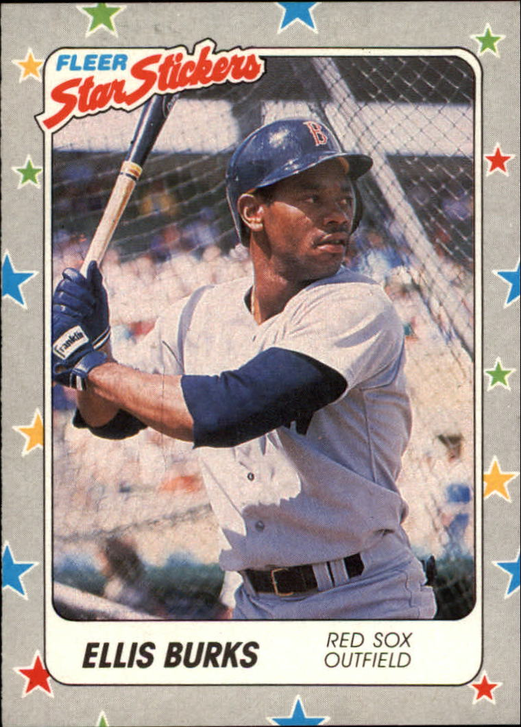 1988 Fleer Star Stickers #6 Ellis Burks