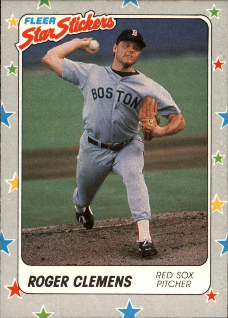 1988 Fleer Star Stickers #7 Roger Clemens