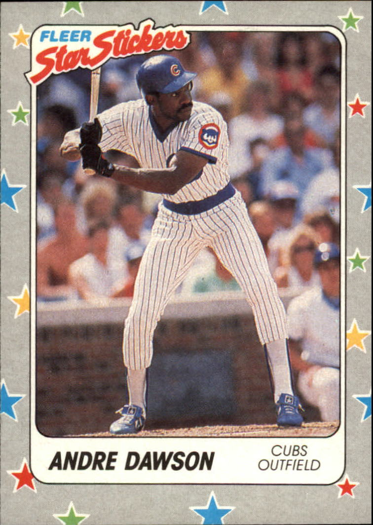 1988 Fleer Star Stickers #79 Andre Dawson