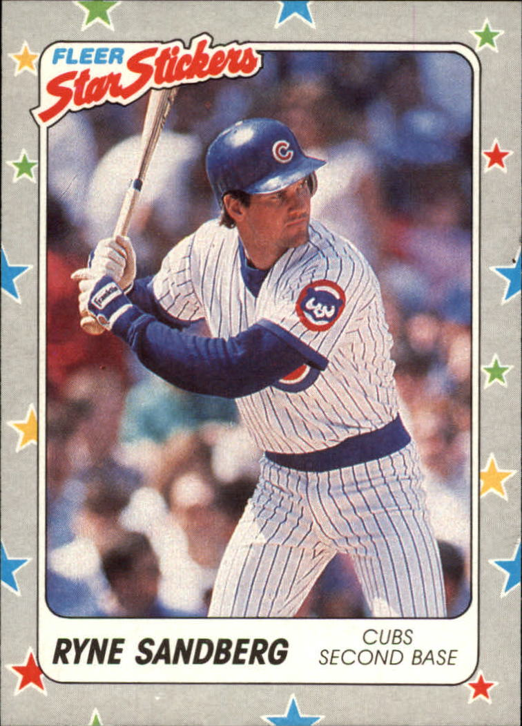 1988 Fleer Star Stickers #80 Ryne Sandberg