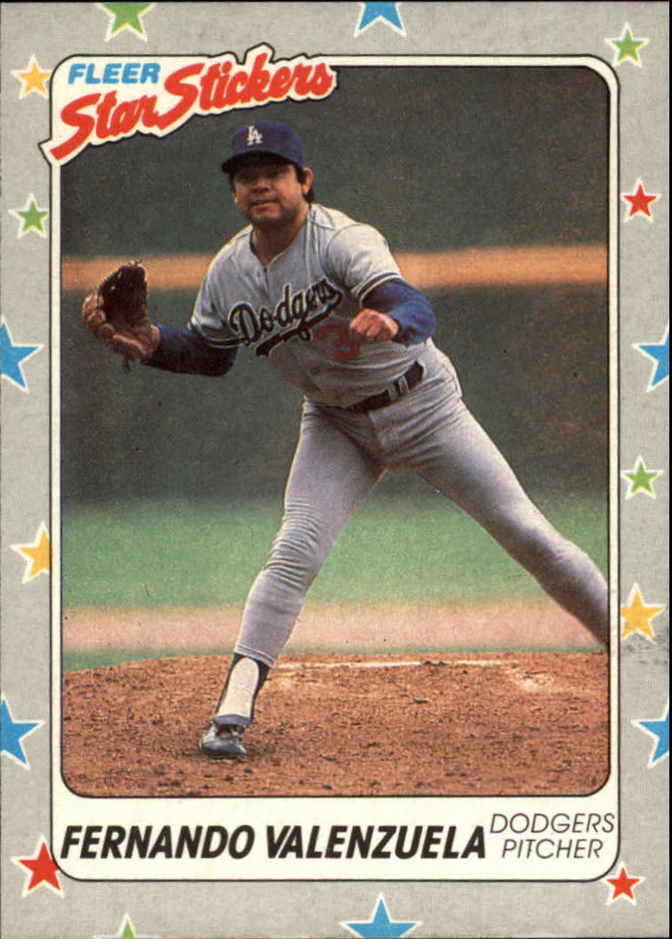1988 Fleer Star Stickers #94 Fernando Valenzuela