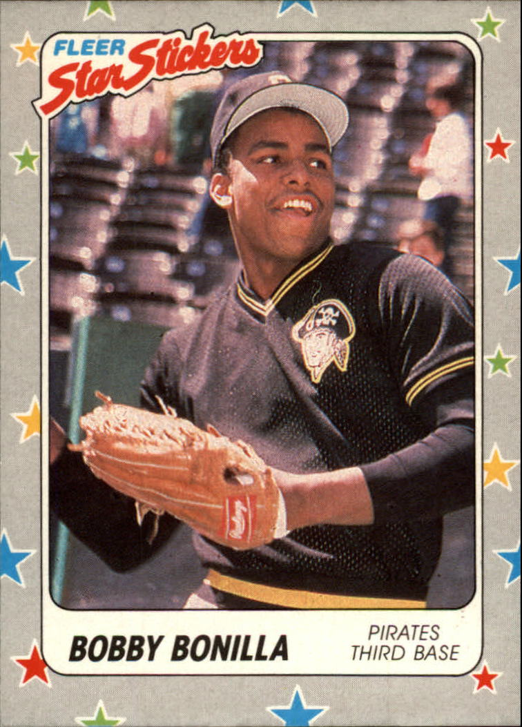 1988 Fleer Star Stickers #114 Bobby Bonilla