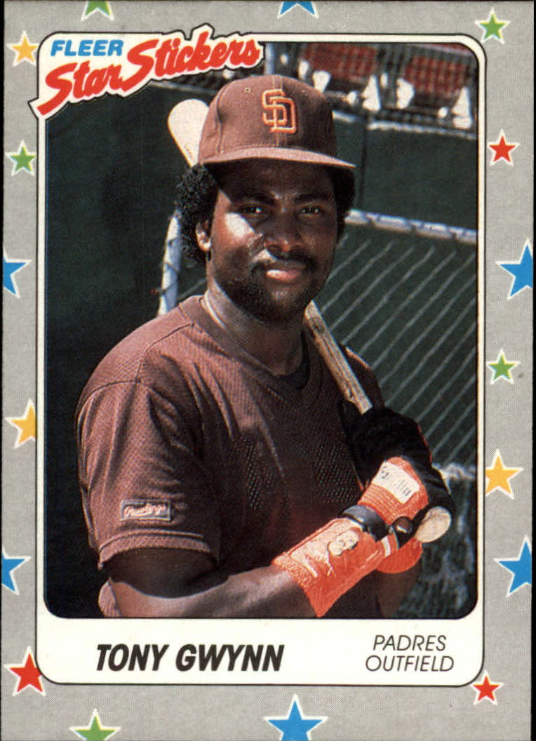 1988 Fleer Star Stickers #123 Tony Gwynn