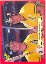 1988 Classic Red #197 Mark McGwire and/Jose Canseco