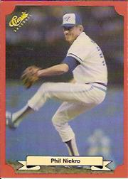 1988 Classic Red #199 Phil Niekro/Toronto Blue Jays