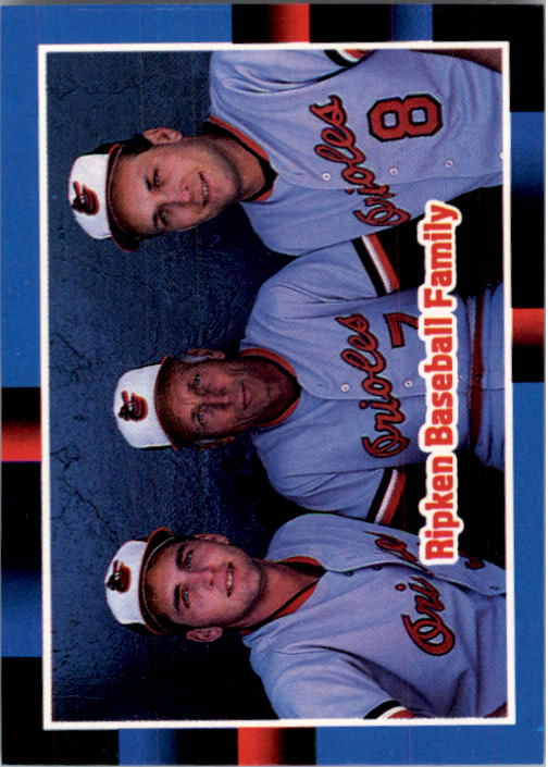 1988 Donruss #625 The Ripken Family
