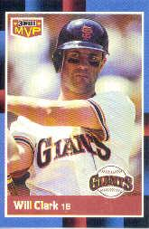 1988 Donruss Bonus MVP's #BC24 Will Clark SP