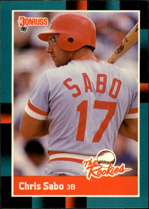 1988 Donruss Rookies #30 Chris Sabo XRC