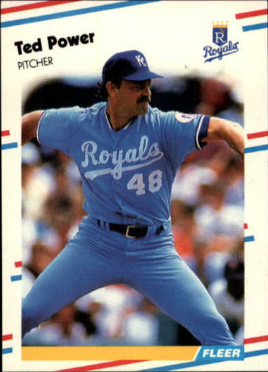 1988 Fleer Update #33 Ted Power