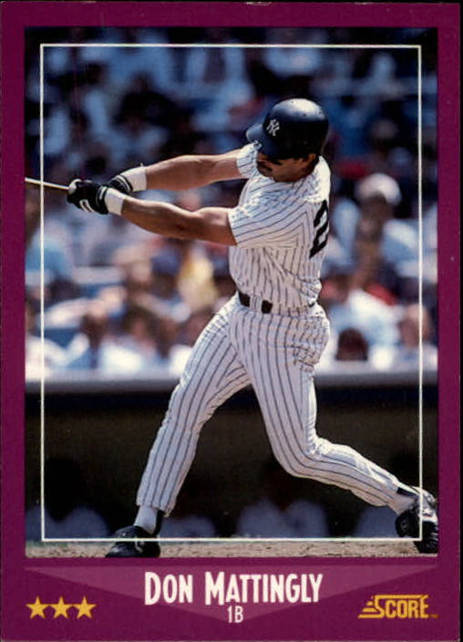 1988 Score #1 Don Mattingly