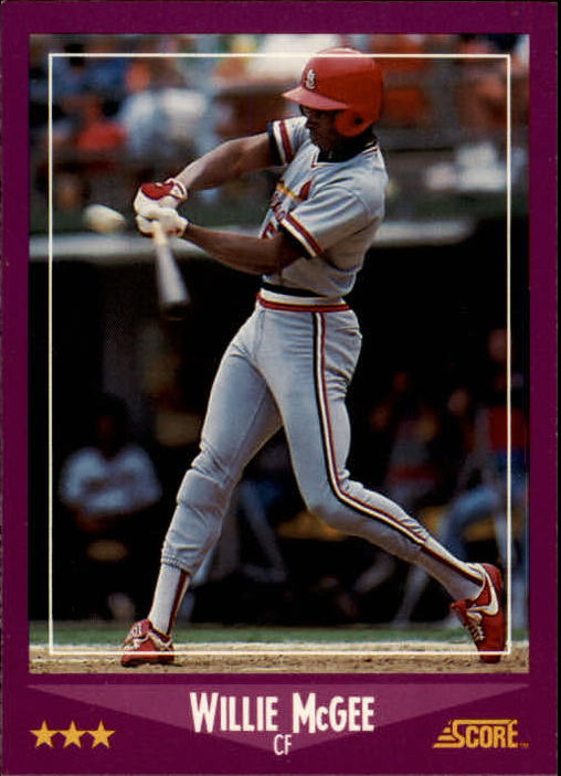 1988 Score #40 Willie McGee UER/(Excited misspelled/as excitd)