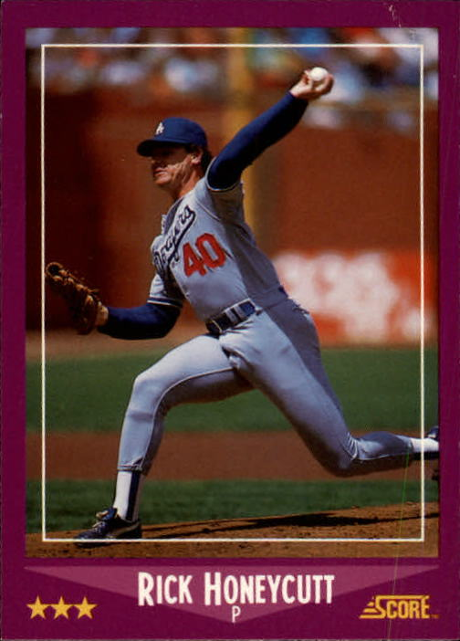 1988 Score #87 Rick Honeycutt UER/(Wrong years for/stats on bac