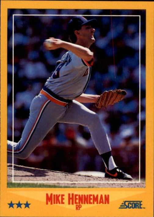 1988 Score #520 Mike Henneman RC*