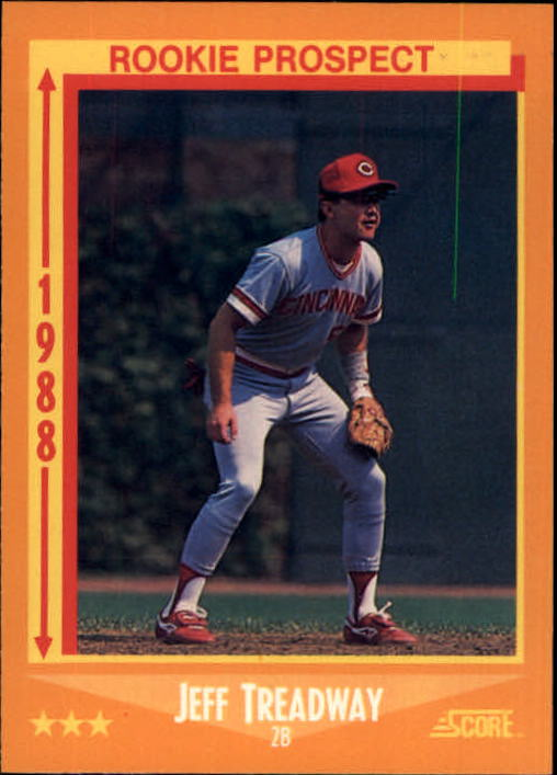 1988 Score #646 Jeff Treadway RC