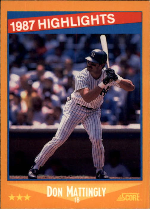 1988 Score #658 Don Mattingly HL