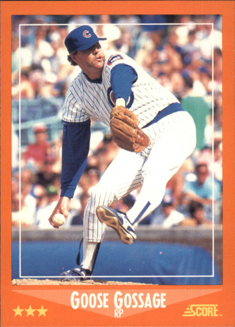1988 Score Rookie/Traded #14T Goose Gossage