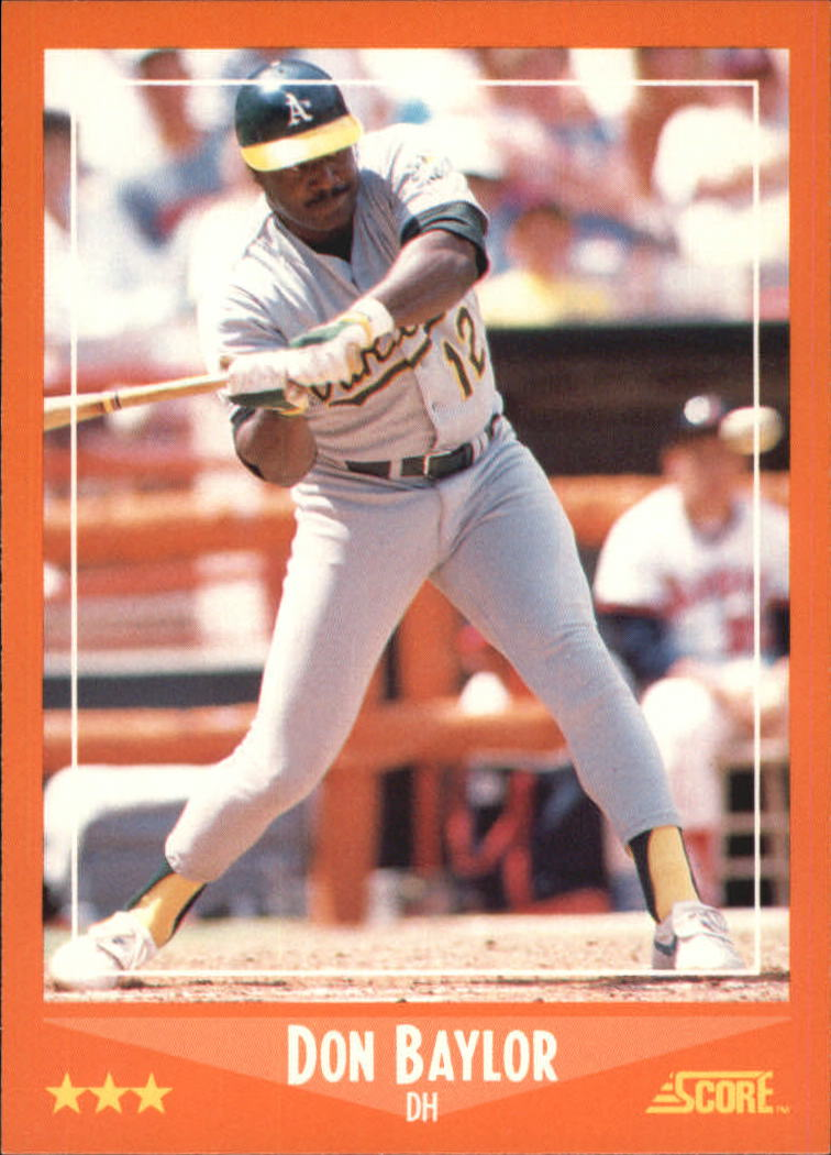 1988 Score Rookie/Traded #55T Don Baylor