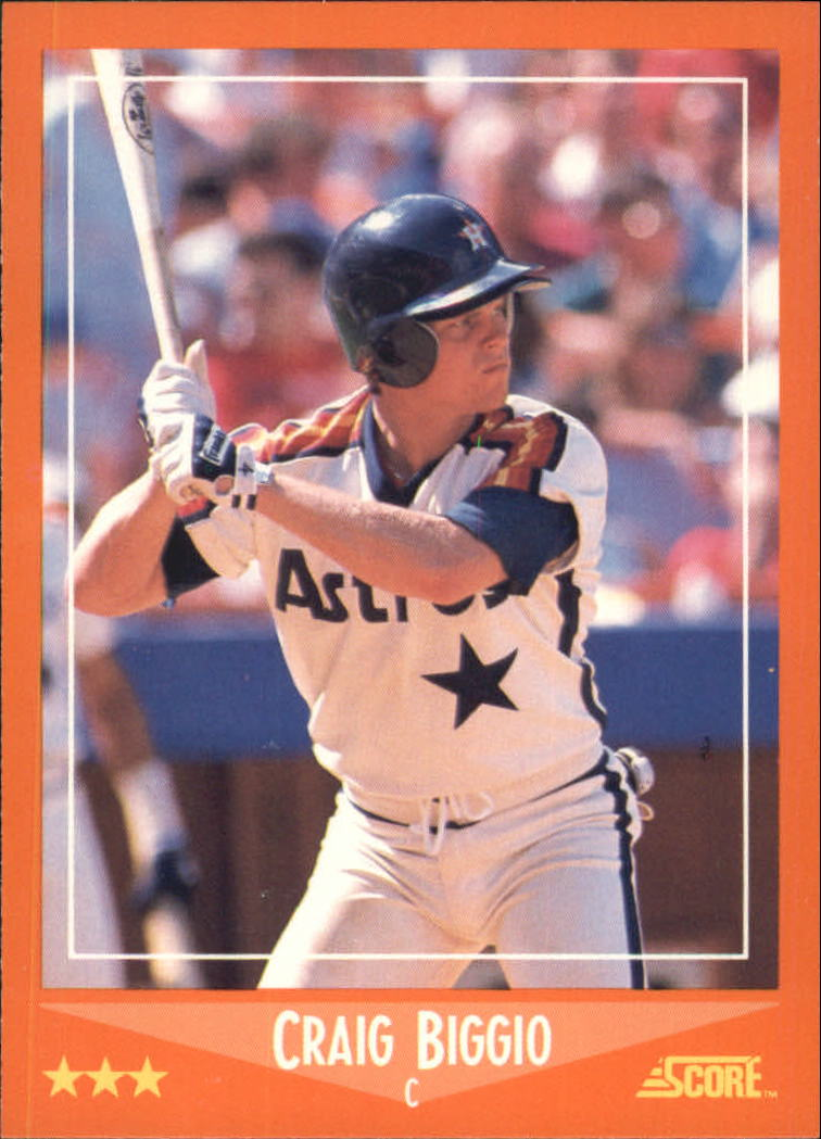 1988 Score Rookie/Traded #103T Craig Biggio XRC