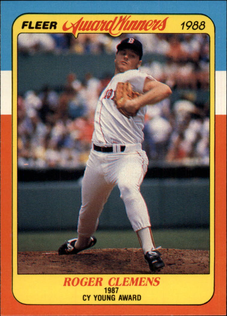1988 Fleer Award Winners #6 Roger Clemens
