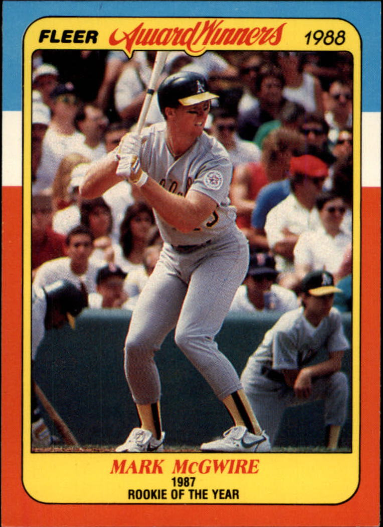 1988 Fleer Award Winners #24 Mark McGwire