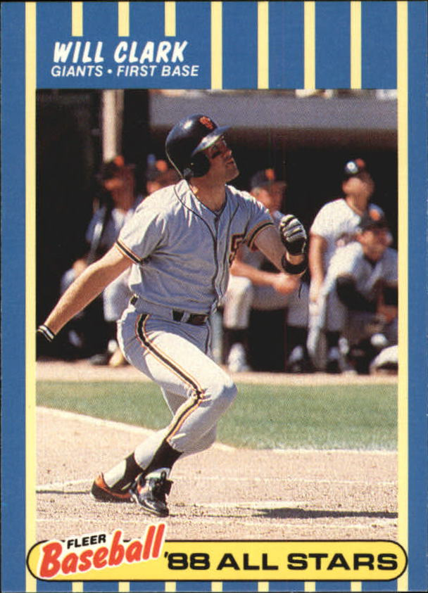 1988 Fleer Baseball All-Stars #7 Will Clark