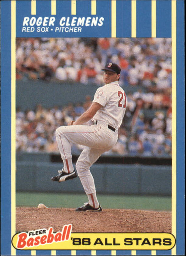 1988 Fleer Baseball All-Stars #8 Roger Clemens