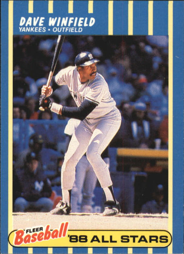 1988 Fleer Baseball All-Stars #44 Dave Winfield