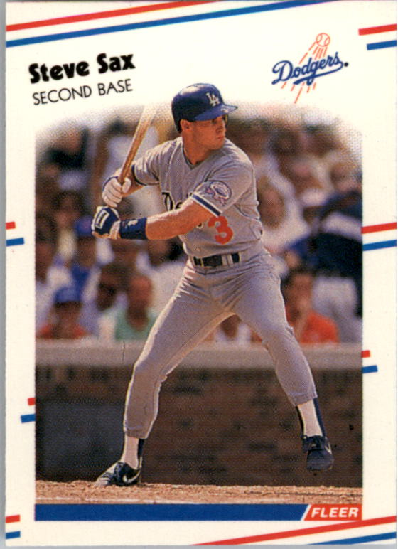 1988 Fleer Mini #85 Steve Sax