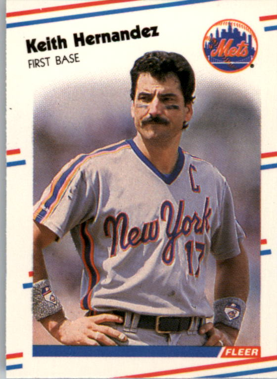 1988 Fleer Mini #93 Keith Hernandez