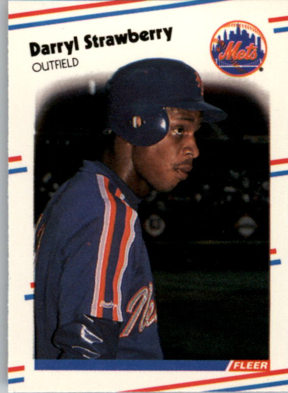 1988 Fleer Mini #97 Darryl Strawberry