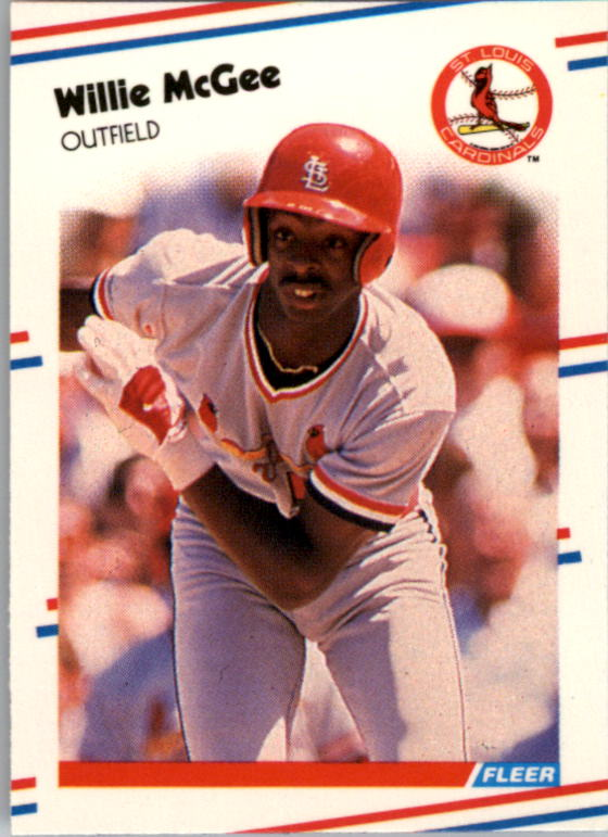 1988 Fleer Mini #108 Willie McGee