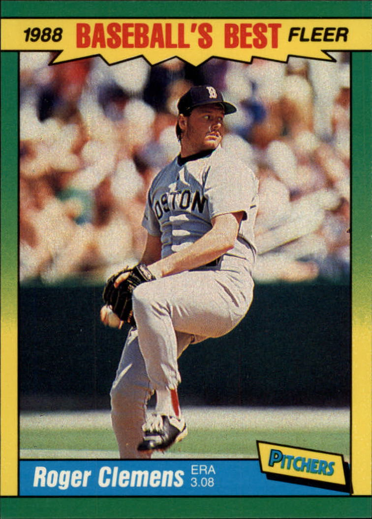 1988 Fleer Sluggers/Pitchers #9 Roger Clemens