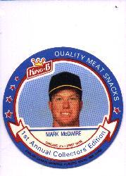 1988 King-B Discs #6 Mark McGwire