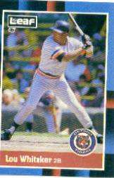 1988 Leaf/Donruss #169 Lou Whitaker