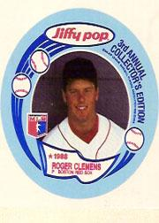 1988 MSA Jiffy Pop Discs #6 Roger Clemens