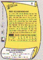 1988 Pacific Legends I #2 Red Schoendienst back image
