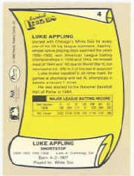 1988 Pacific Legends I #4 Luke Appling back image