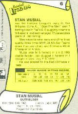 1988 Pacific Legends I #6 Stan Musial back image