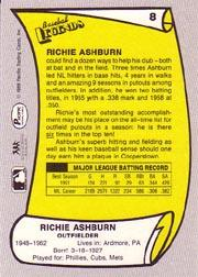 1988 Pacific Legends I #8 Richie Ashburn back image