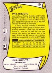1988 Pacific Legends I #10 Phil Rizzuto back image